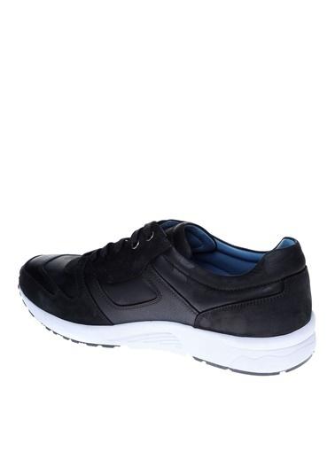 Fabrika Fabrika Erkek Siyah Deri Günlük Ayakkabı Siyah